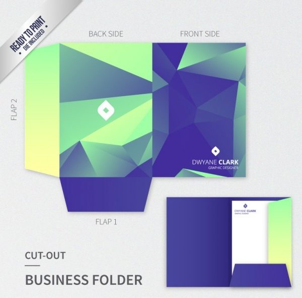 custom printed pocket folders