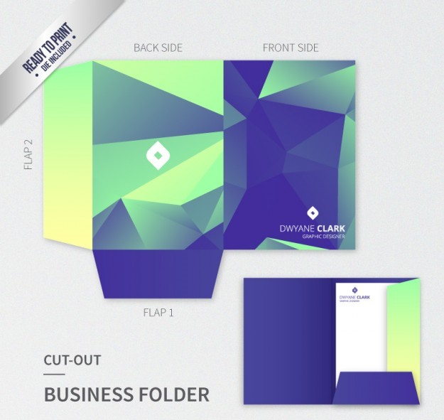 custom printed pocket folders